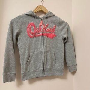 Oshkosh sweatshirt w/ zip-up& hoodie.Size:7 girls